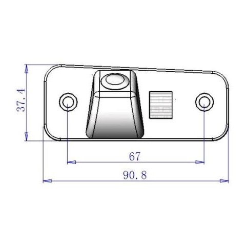 Автомобильная камера заднего вида для  Hyundai Santa Fe New Превью 5