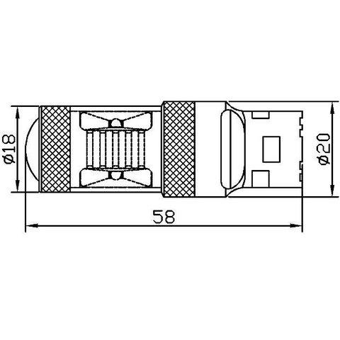 LED лампа тормоза/заднего хода UP-7G-T20SWB-30W(7440) (белая, 12-24 В) Превью 2