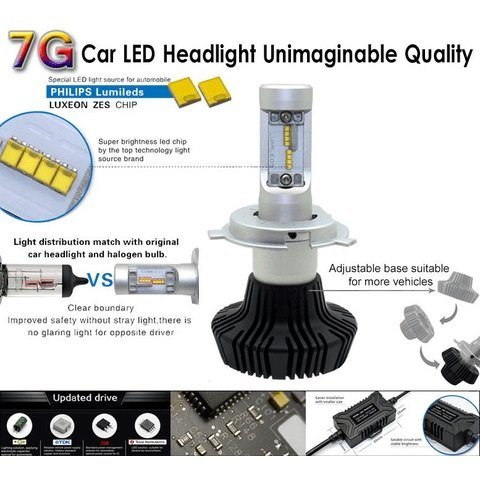 Car LED Headlamp Kit UP-7HL-9007W-4000Lm (9007, 4000 lm, cold white) Preview 2