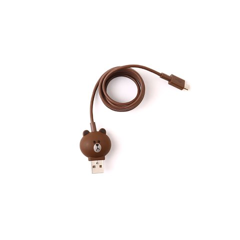Micro-USB 5-pin Smartphone Connection Cable (Line Friends – Brown) Preview 1