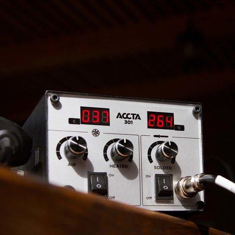 Термоповітряна паяльна станція Accta 301 Прев'ю 5
