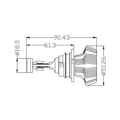 Набір світлодіодного головного світла UP-7HL-9004W-4000Lm (9004, 4000 лм, холодний білий) Прев'ю 4