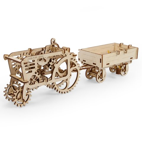 Mechanical 3D Puzzle UGEARS Trailer - /*Photo|product*/