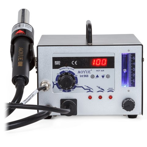 Hot Air Soldering Station AOYUE 968 with Soldering Iron and Smoke Absorber (220 V) Preview 1